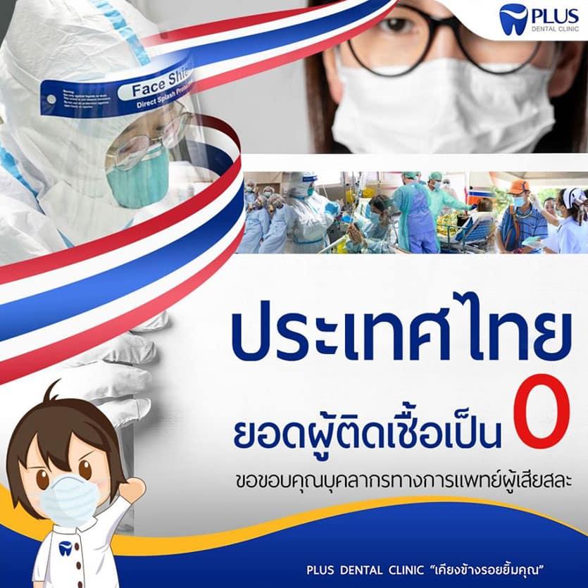 ประเทศไทยผู้ติดเชื้อเป็น 0